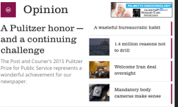 http://www.postandcourier.com/article/20150420/PC1002/150429905/1506/a-pulitzer-honor-x2014-and-a-continuing-challenge